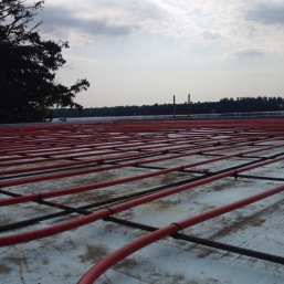 Red Pex, White Clouds and Blue Foam Insulation - Radiant! 7/5/15