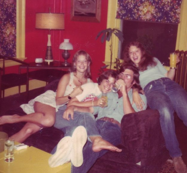 Circa 1976 Vickie, Linda, Ned and Kathy