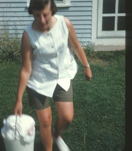 Mom in Maine with Diapers