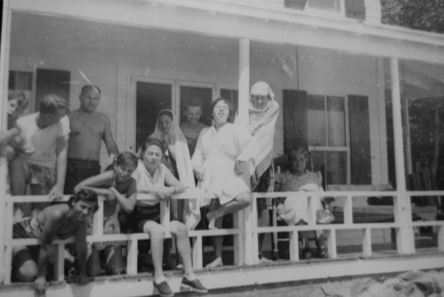 Family on the Porch circa 1959