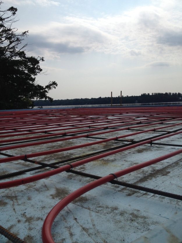 Red Pex, Blue Foam Insulation ... in time for the 4th of July